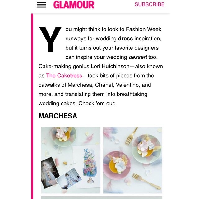 Runway inspired cakes and desserts  by The Caketress